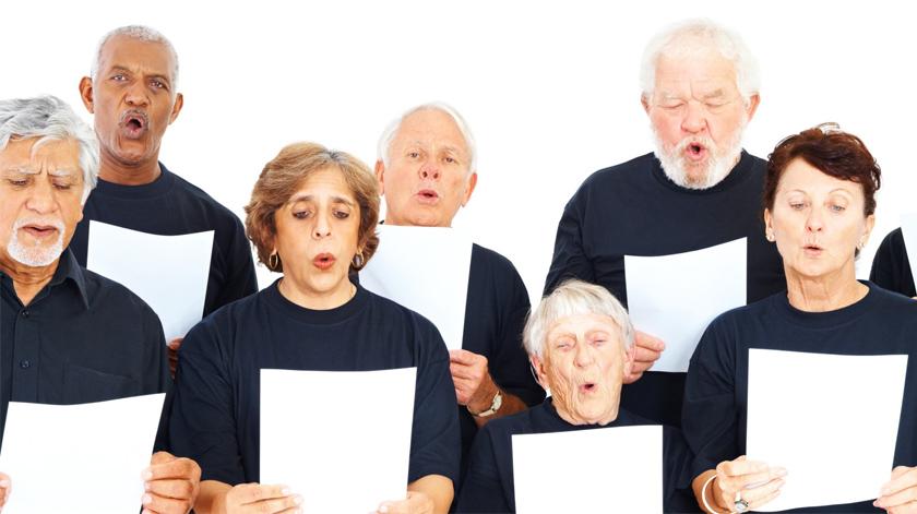 Doentes respiratórios cantam pela saúde