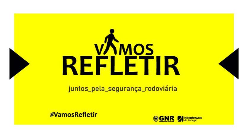 "Campanha ""Vamos Refletir"" alerta para a sinistralidade rodoviária"