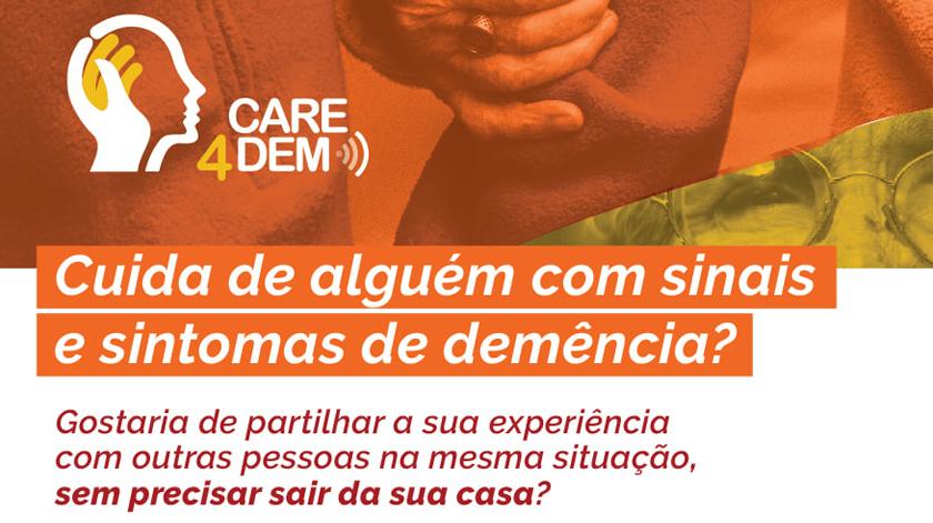 Sessões online de apoio a cuidadores informais de pessoas com demência
