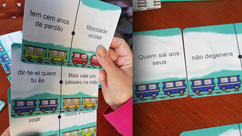 """Jogo """"Comboio dos Provérbios II"""" da Fundação S. João de Deus"""
