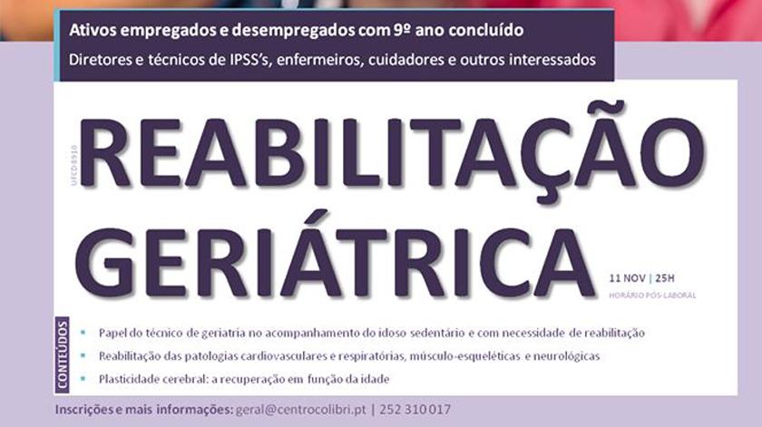 """Formação gratuita e certificada de """"Reabilitação Geriátrica"""" em Famalicão"""