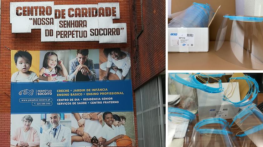 Centro de Caridade no Porto recebe viseiras da TEV2