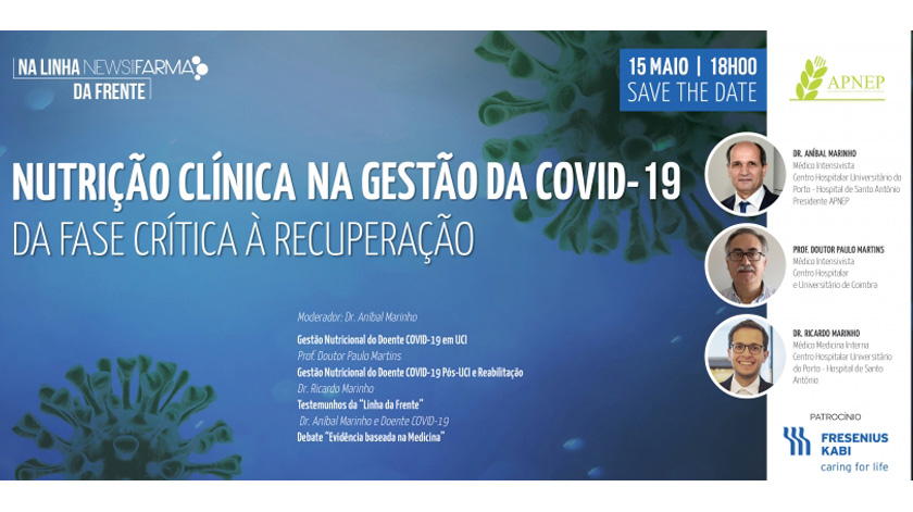 Nutrição Clínica na gestão da Covid-19: webinar responde ao desafio