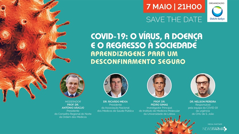 Daiichi Sankyo Portugal promove webinar para debater regresso à sociedade pós Covid-19