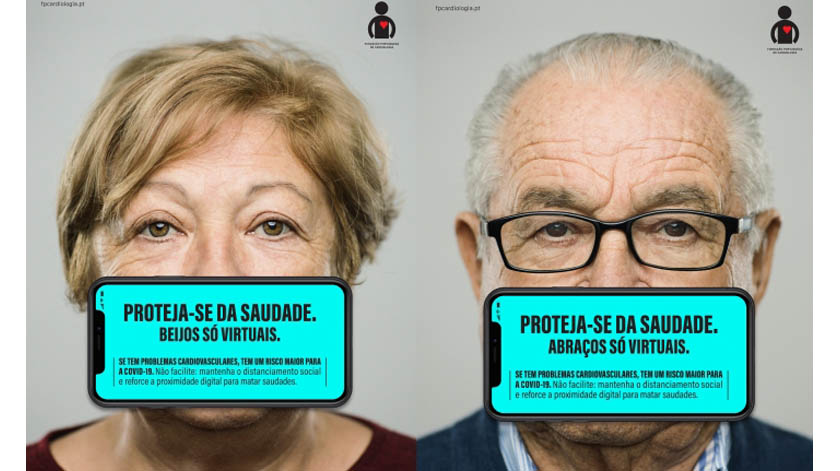 Covid-19: Fundação Portuguesa de Cardiologia apela à demonstração de afetos virtuais