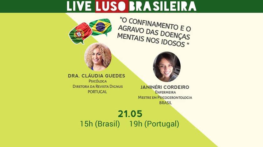 I Live Luso Brasileira debate impacto do confinamento nos idosos