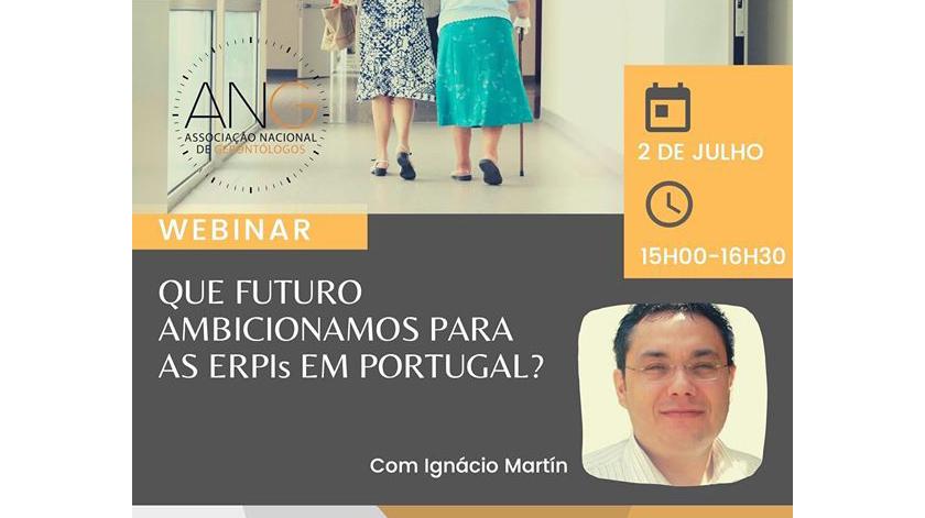 """Webinar: """"Que futuro ambicionamos para as ERPIs em Portugal?"""""""