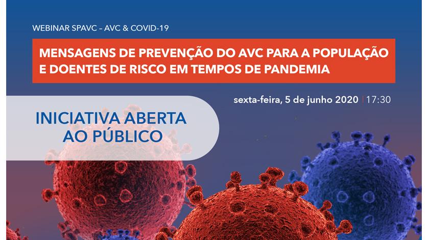 Webinar SPAVC: Prevenção do AVC para a população e doentes de risco