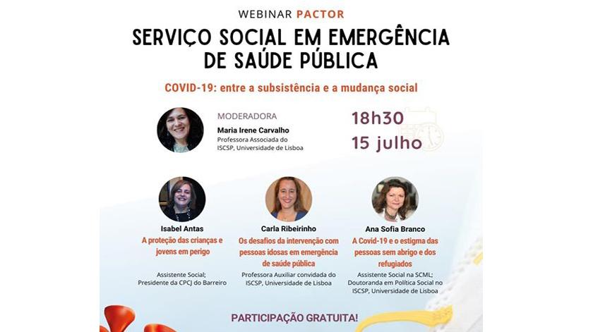 Webinar: Serviço Social em Emergência de Saúde Pública
