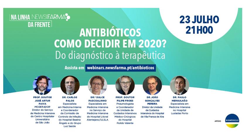 """Webinar: """"Antibióticos – como decidir em 2020?"""""""