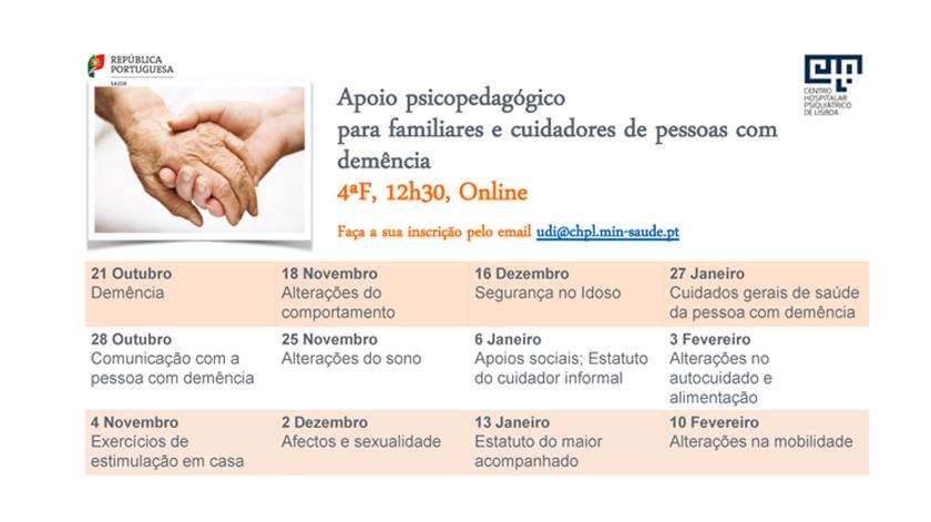 CHPL com apoio psicopedagógico para familiares e cuidadores de pessoas com demência