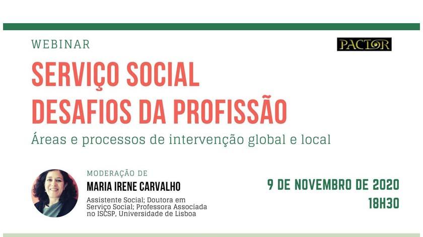 Webinar: 'Serviço social: desafios da profissão'