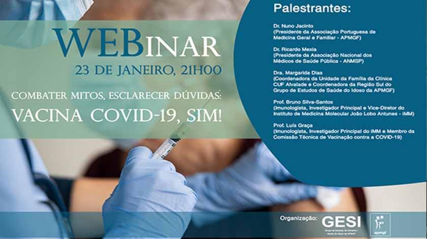 Webinar sobre a vacina Covid-19