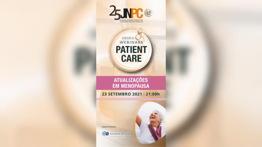 Ciclo de Webinars Patient Care: Atualizações em Menopausa realiza-se em Setembro